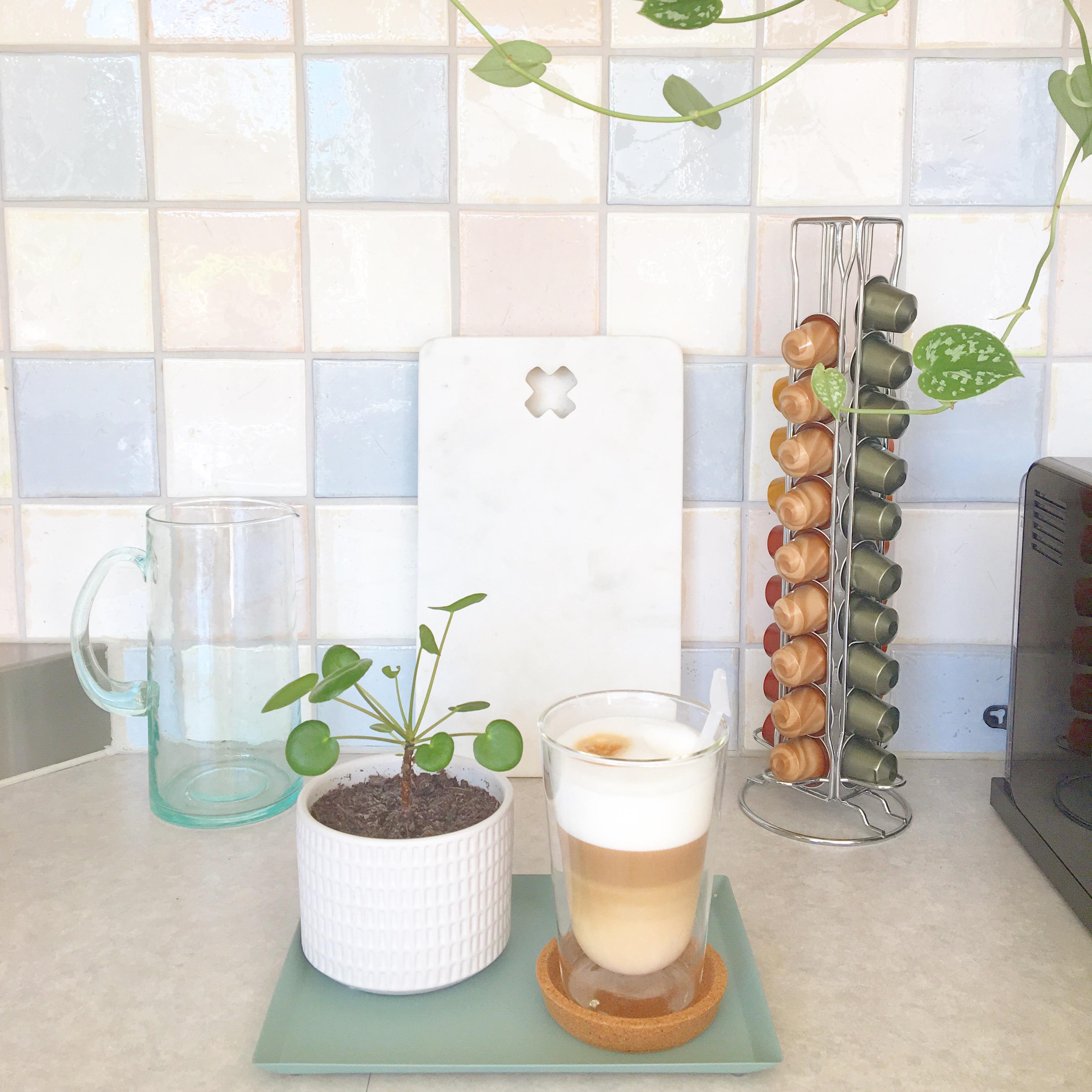 keuken tiles marmer koffie
