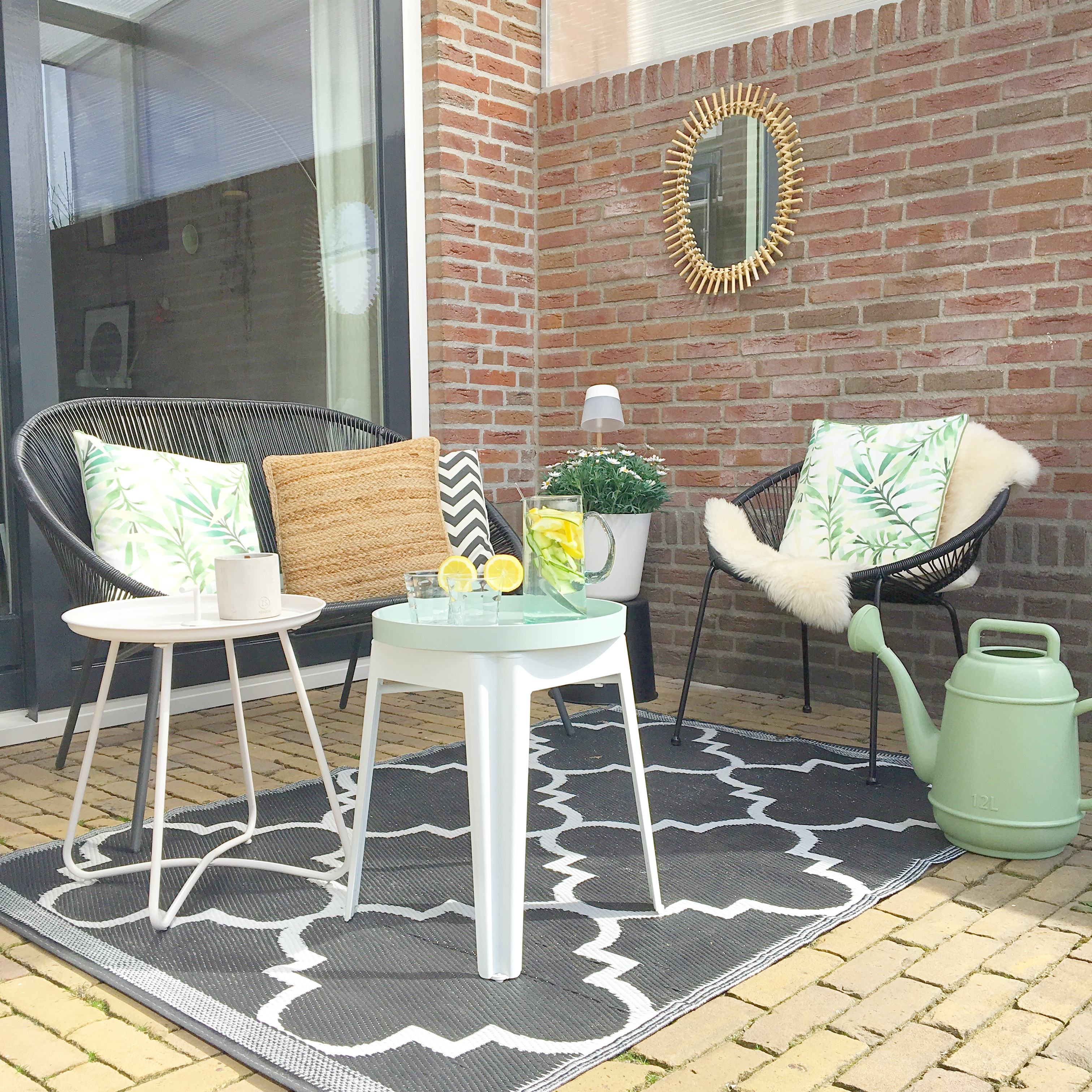 loungehoek tuinset tuin buiten