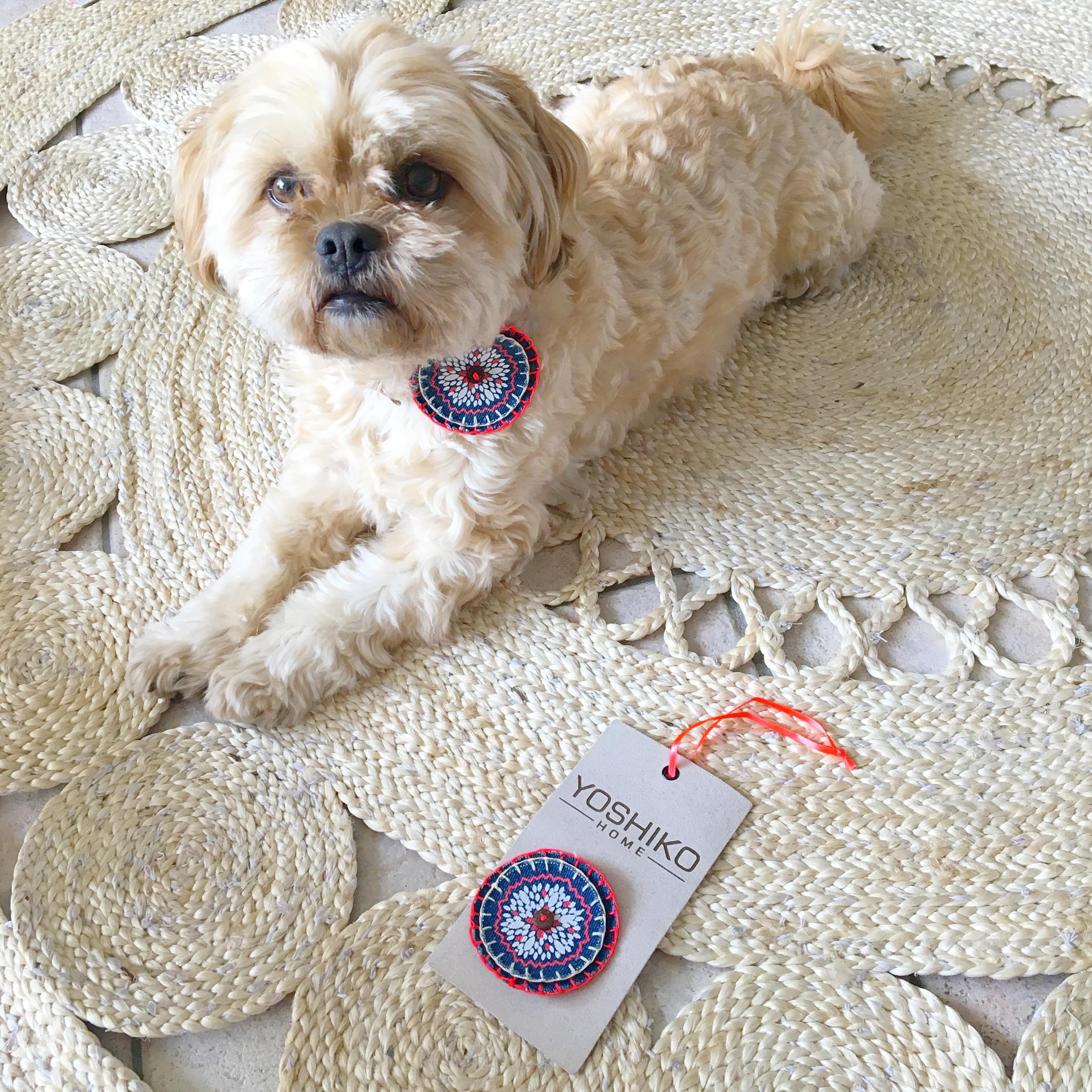 yoshiko lotus vloerkleed met hond