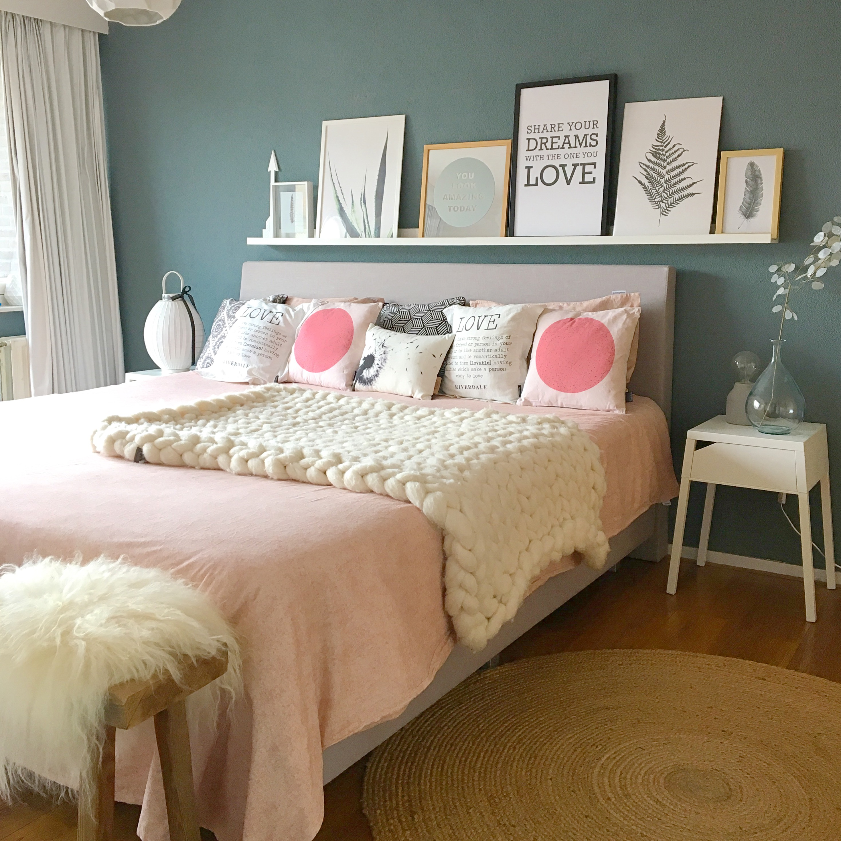 slaapkamer roze blauw